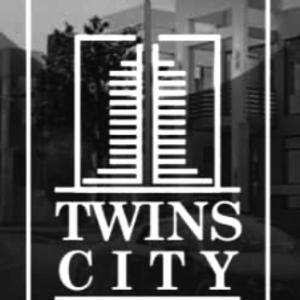 twin city logo white